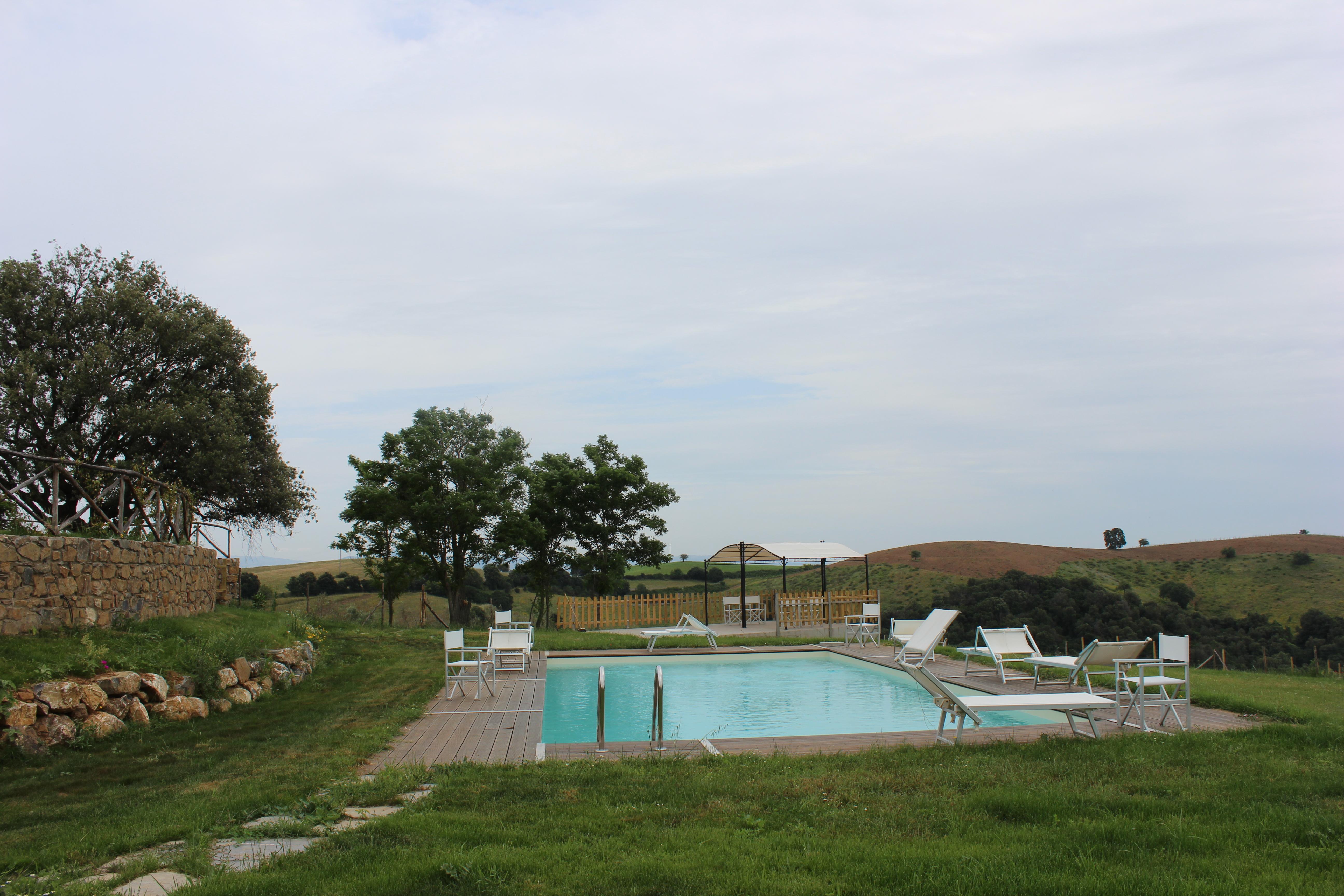 Agriturismo l'Anichino in maremma a Grosseto - Toscana Uno scorcio della piscina, animali ammessi